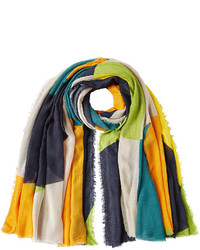 Fringed scarf with cashmere medium 728081