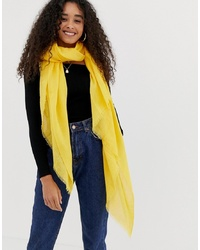 New Look Plain Scarf In Bright Yellow