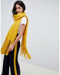 Pieces Long Fringe Scarf