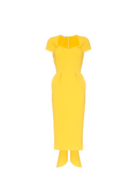 Stella McCartney Amal Cap Sleeve Midi Dress