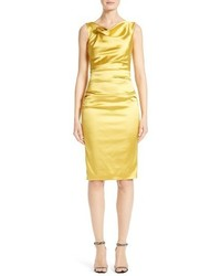 Stretch satin sheath dress medium 3665444