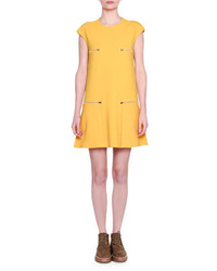 Stella McCartney Cap Sleeve Zip Detail Shift Dress