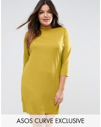 Asos Curve Curve Ponte Shift Dress With 34 Sleeve
