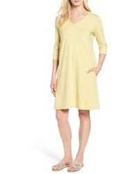 Stretch organic cotton jersey shift dress medium 4412861