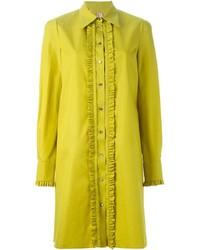 Antonio marras frill placket shirt dress medium 349034
