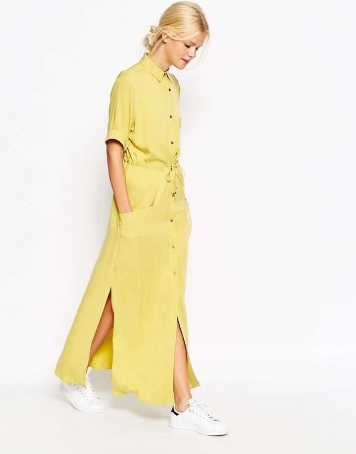 Uitgelezene Asos Collection Casual Maxi Shirt Dress, $83 | Asos | Lookastic.com EF-73
