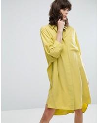 Weekday Cupro Peachey Feel Shirt Dress
