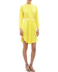 Band Of Outsiders Slit Sleeve Shirtdress Yellow