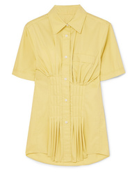 Isabel Marant Gramy Pleated Cotton Poplin Shirt