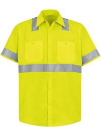 jcpenney Red Kap Short Sleeve High Visibility Shirt