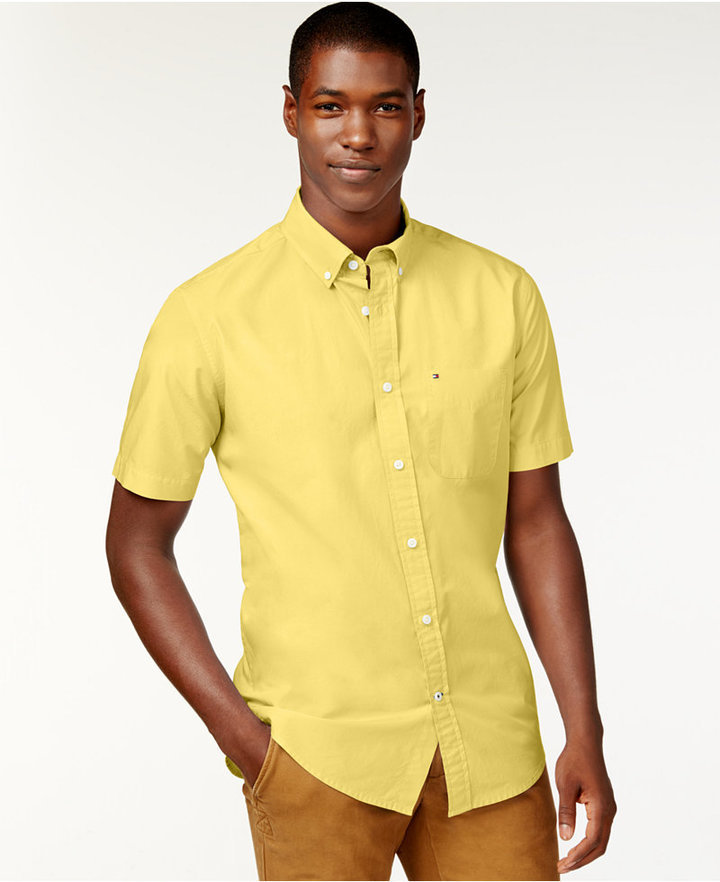Tommy Hilfiger Maxwell Short Sleeve Button Down Shirt | Where to ...