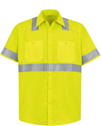 jcpenney Red Kap Short Sleeve High Visibility Shirt