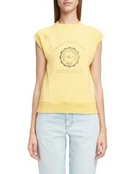 Saint Laurent University Graphic Short Sleeve Sweatshirt