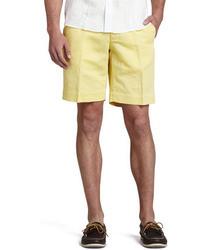 Incotex Chinolino Shorts Yellow