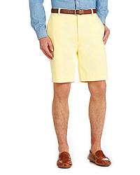 Roundtree & Yorke Flat Front Washed Cotton Shorts