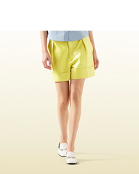 Gucci Light Yellow Leather Short