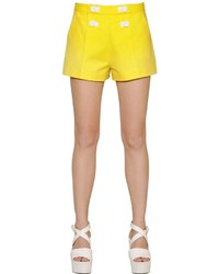 Moschino stretch cotton satin shorts medium 716906