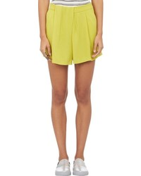 A.L.C. Pleated Dello Shorts Yellow