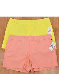 Tommy Hilfiger Shorts Aurora Yellow Or Peach Amber Cotton Chino New 4341