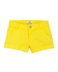 Versace Girls Twill Shorts Yellow Sizes 2 6