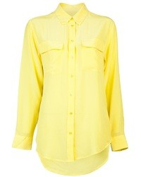 womens yellow button down shirt | Gommap Blog