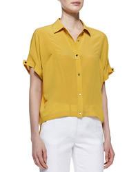 Silk boxy shirt medium 35256