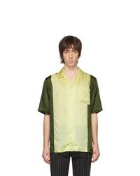 Dries Van Noten Green And Yellow Carltone Colorblocked Shirt