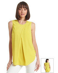 DKNY C Sleeveless Deep Pleat Blouse