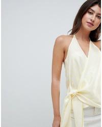 ASOS DESIGN Drape Cami In Pastel Stripe