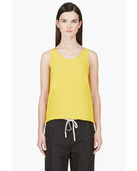 Chloé Yellow Crepe De Chine Tank Top