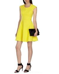 Karen millen платье желтое