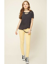 Forever 21 Skinny Mid Rise Pants