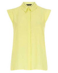Dorothy Perkins Lemon Sleeveless Shirt