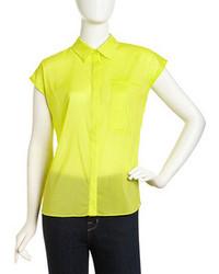 Jennifer lloyd sleeveless georgette blouse calendula yellow medium 73689
