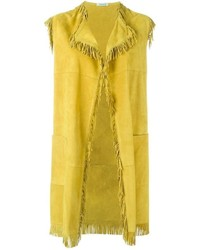 Yellow sleeveless coat original 10015642