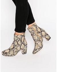 Asos Ramero Metal Detail Ankle Boots