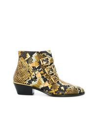Chloé Susanna Python Ankle Boots