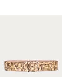 Tan python belt medium 225596