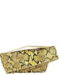 Jil Sander Sharp Bag Large Asymmetric Clutch Yellow