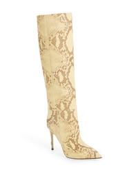 Paris Texas Faded Python Print Knee High Boot