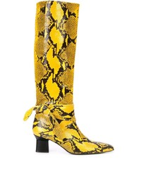 Rosetta Getty Snakeskin Effect Boots