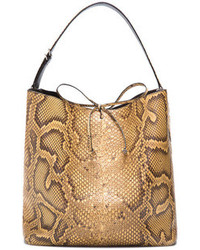 Light cuoio python bucket bag light cuoio medium 108887