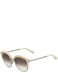Jimmy Choo Lash Snakeskin Cat Eye Sunglasses