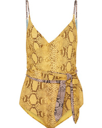 Stella McCartney Wrap Effect Snake Print Swimsuit