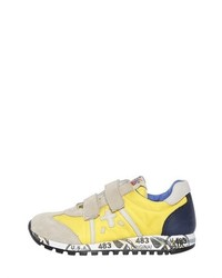 Premiata Lucy Nylon Leather Running Sneakers