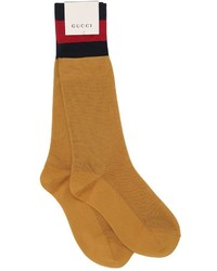 Gucci Cotton Blend Socks W Web Detail