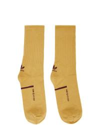 Oamc Yellow And Brown Adidas Originals Edition Type O Socks