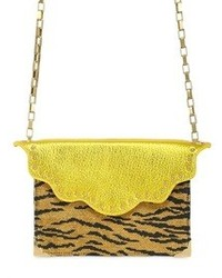 Mini envelope shoulder bag in raffia medium 72974