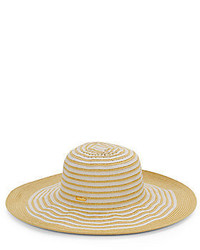Calvin Klein Striped Straw Sun Hat