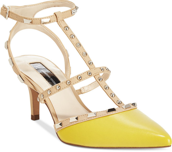 86362162fa0 ... Yellow Studded Pumps INC International Concepts Carma Pointed Toe  Studded Kitten Heel Pumps Only At Macys Shoes ...